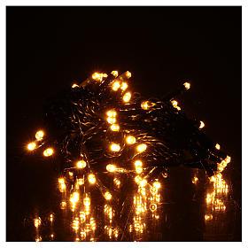 Luce di Natale catena verde 60 led bianchi caldi esterni batterie 6 m s2