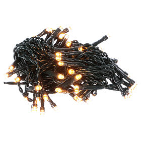 Battery powered Christmas lights green wire, 60 warm white LEDs 6 m s2