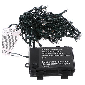 Battery powered Christmas lights green wire, 60 warm white LEDs 6 m s5