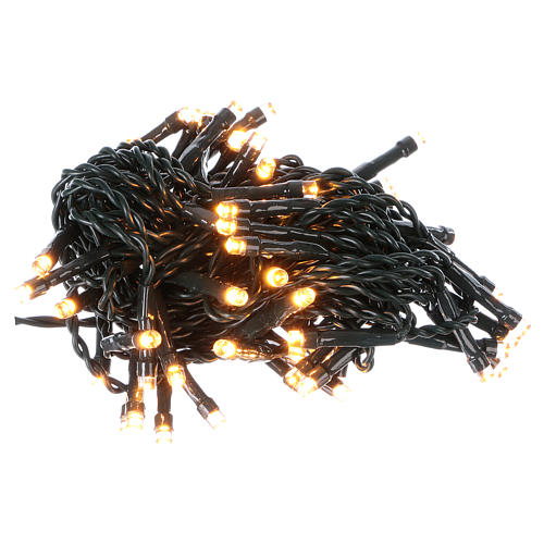 Battery powered Christmas lights green wire, 60 warm white LEDs 6 m 1