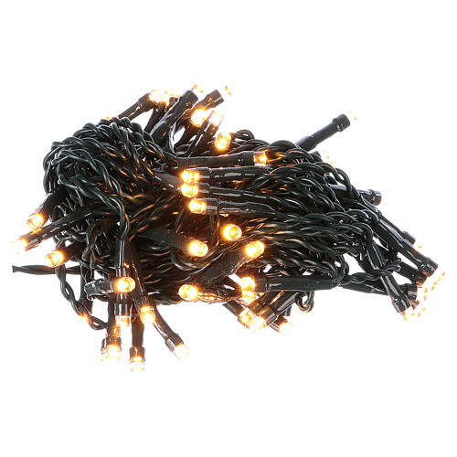 Battery powered Christmas lights green wire, 60 warm white LEDs 6 m 2