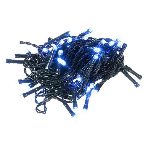 Luz de Navidad cadena verde 60 led azules exterior batería 6 m 2