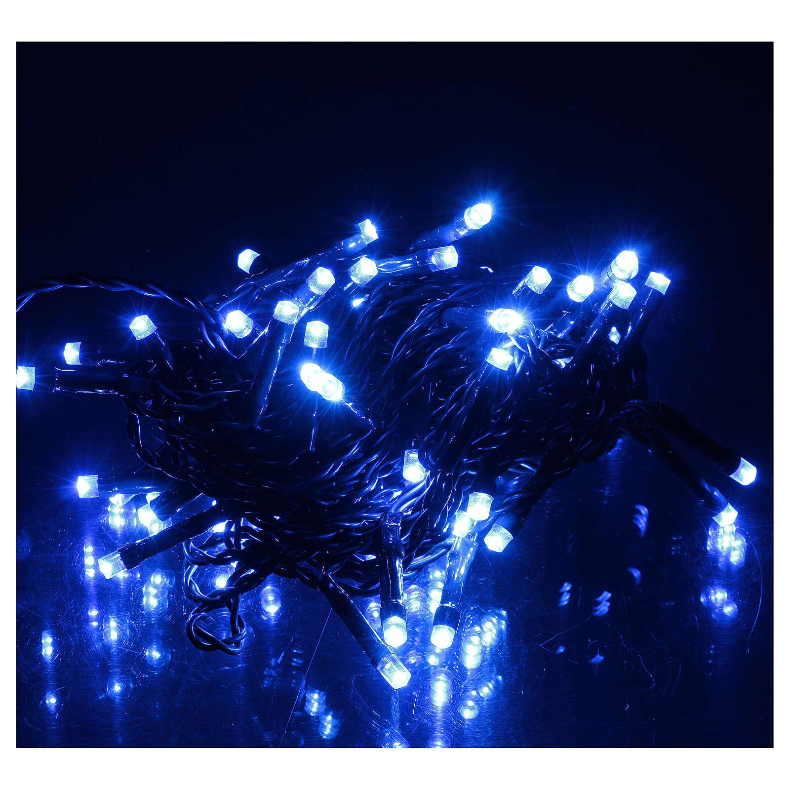 Luce di Natale catena verde 60 led blu esterni batterie 6 m 4