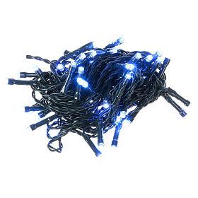 Luce di Natale catena verde 60 led blu esterni batterie 6 m s2