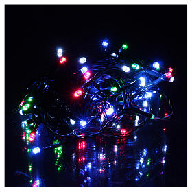 Battery powered Christmas lights green chain, 60 multi-color LEDs 6 m s3