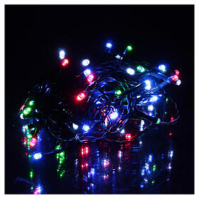 Battery powered Christmas lights green chain, 60 multi-color LEDs 6 m s1