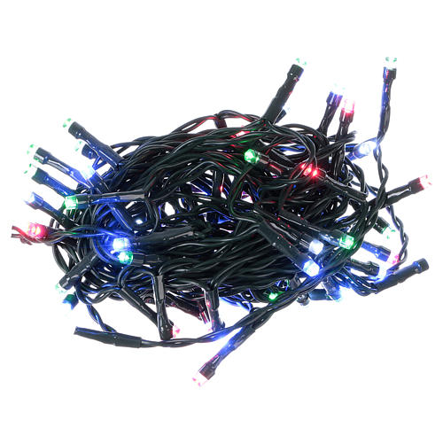Battery powered Christmas lights green chain, 60 multi-color LEDs 6 m 1