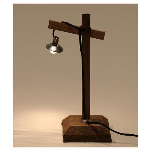 Lanterne avec abat-jour et piédestal 10x5x5 cm crèche 6-8 cm basse tension 4