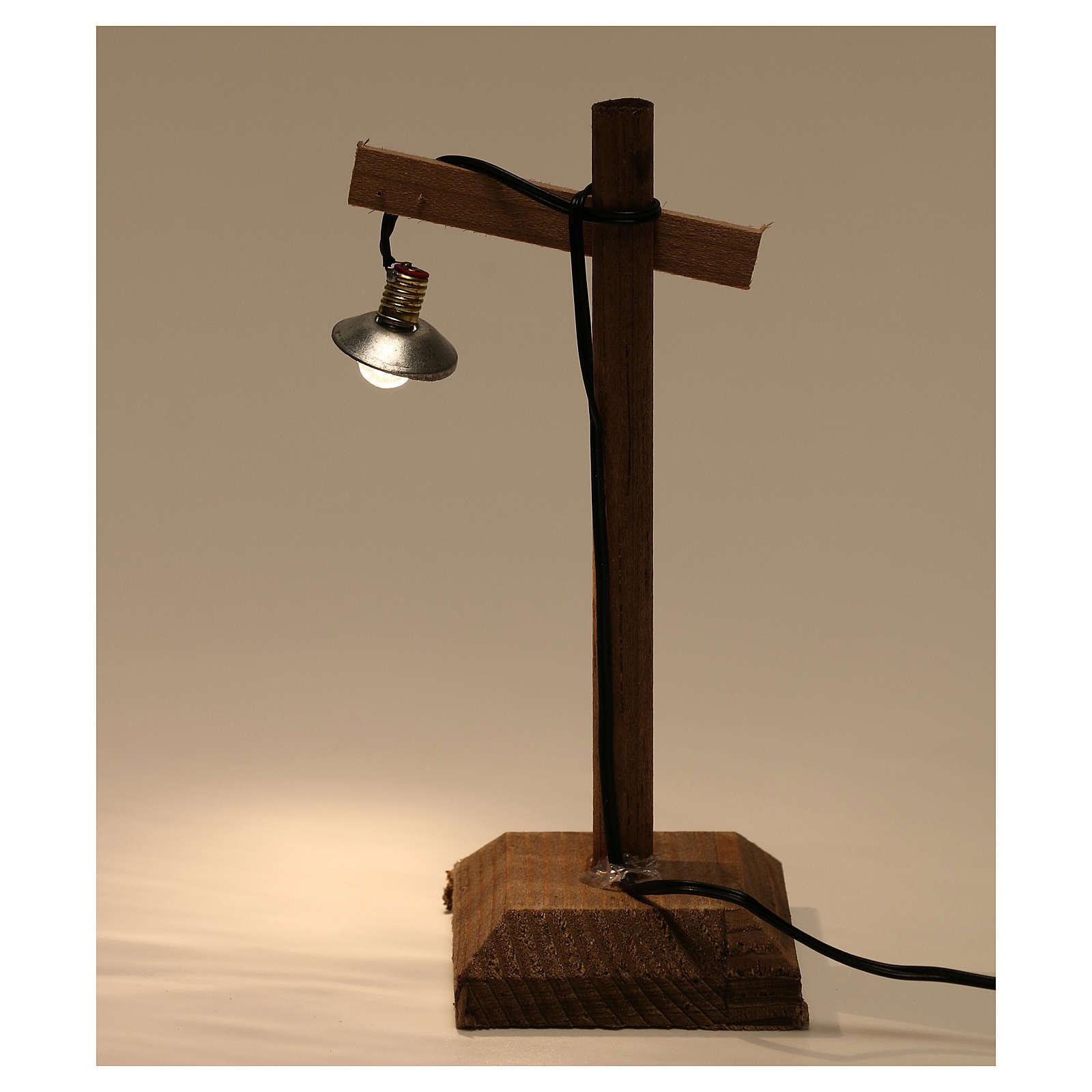 Lanterna con paralume e piedistallo 10x5x5 cm presepe 6-8 cm bassa tensione 4