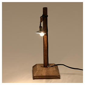 Lanterna con paralume e piedistallo 10x5x5 cm presepe 6-8 cm bassa tensione s3