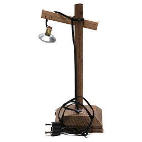 Lanterna con paralume e piedistallo 10x5x5 cm presepe 6-8 cm bassa tensione s5