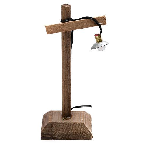 Lanterna con paralume e piedistallo 10x5x5 cm presepe 6-8 cm bassa tensione 1
