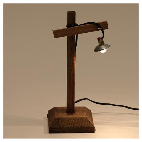 Lanterna con paralume e piedistallo 10x5x5 cm presepe 6-8 cm bassa tensione 2