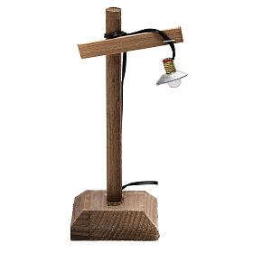 Luzes e Lamparinas para o Presépio: Lanterna com quebra-luz e pedestal 10x5x5 cm baixa tensão para presépio com figuras de 6-8 cm de altura média