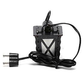 Lanterna in metallo con luce bianca h 4 cm presepe 8-10 cm bassa tensione s4