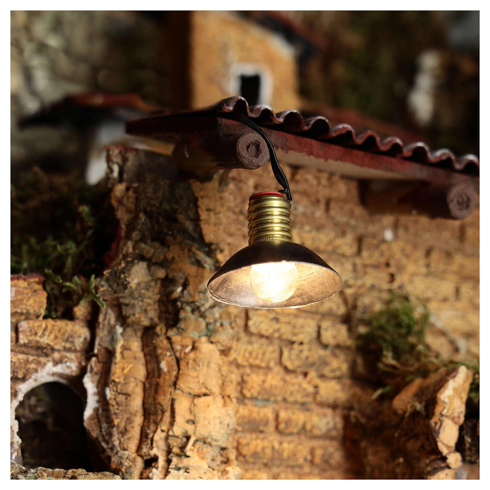 Lampe de rue avec abat-jour en métal 3,5V 3 cm crèche basse tension 4