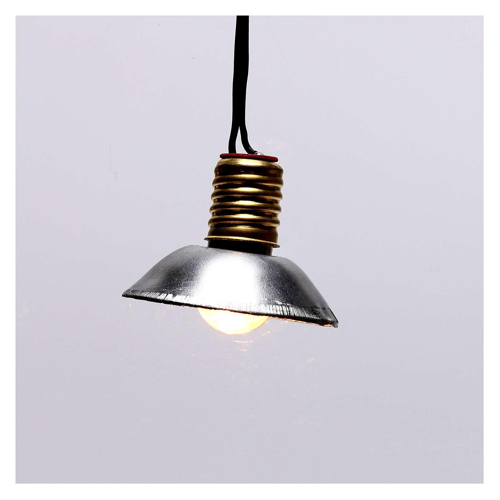 Lampione con paralume in metallo 3,5V 3 cm presepe bassa tensione 4