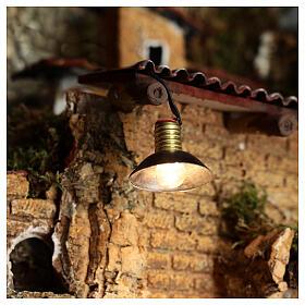 Lampione con paralume in metallo 3,5V 3 cm presepe bassa tensione s2