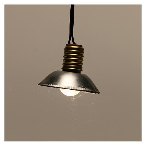 Lampione con paralume in metallo 3,5V 3 cm presepe bassa tensione 2