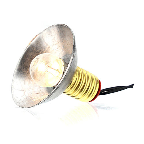 Lampione con paralume in metallo 3,5V 3 cm presepe bassa tensione 3