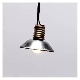 Luz da rua com quebra-luz em metal 3,5V 3 cm baixa tensão para presépio s1
