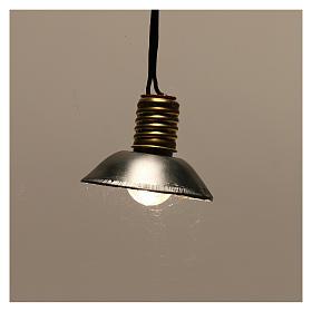 Luz da rua com quebra-luz em metal 3,5V 3 cm baixa tensão para presépio s2