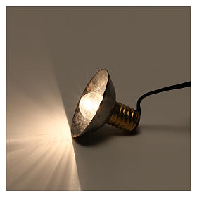 Luz da rua com quebra-luz em metal 3,5V 3 cm baixa tensão para presépio s3