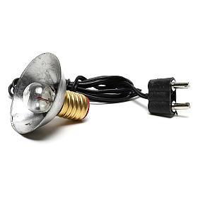 Luz da rua com quebra-luz em metal 3,5V 3 cm baixa tensão para presépio s4