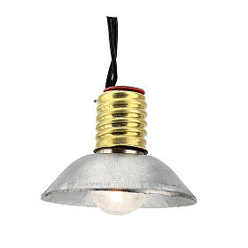 Lamp post with metal shade 3.5V, for 3 cm nativity low voltage s1