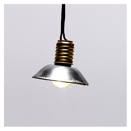 Lamp post with metal shade 3.5V, for 3 cm nativity low voltage 1