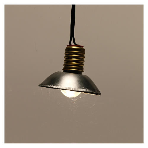 Lamp post with metal shade 3.5V, for 3 cm nativity low voltage 2