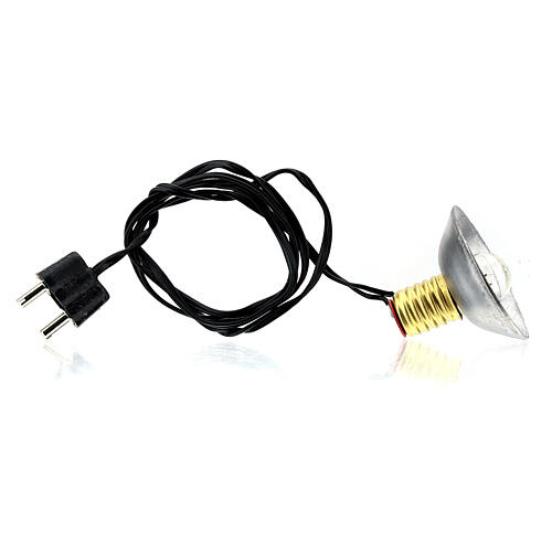Lamp post with metal shade 3.5V, for 3 cm nativity low voltage 4