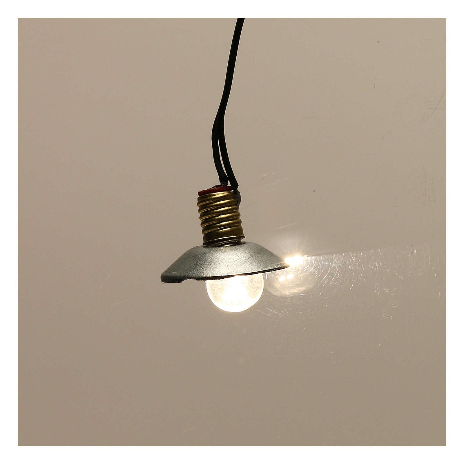 Lampe de rue avec abat-jour en métal 3,5V 1 cm crèche basse tension 4