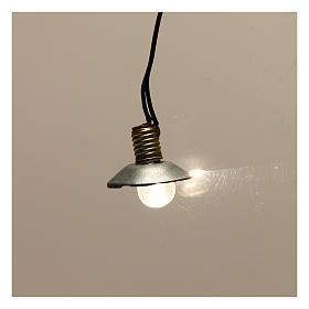 Lampe de rue avec abat-jour en métal 3,5V 1 cm crèche basse tension s2