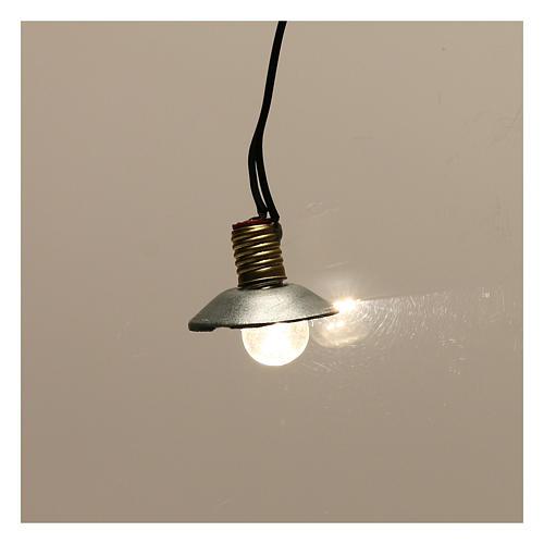 Lampe de rue avec abat-jour en métal 3,5V 1 cm crèche basse tension 2