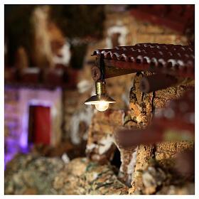 Lampione con paralume in metallo 3,5V 1 cm presepe bassa tensione s2