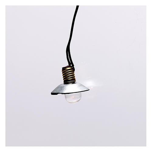 Lampione con paralume in metallo 3,5V 1 cm presepe bassa tensione 1