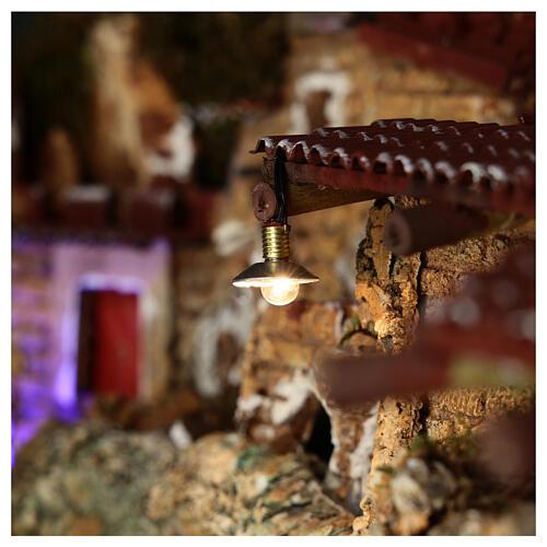 Lampione con paralume in metallo 3,5V 1 cm presepe bassa tensione 2