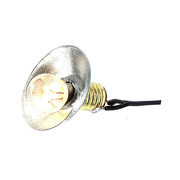 Lamp post with metal shade 3.5V, for 1 cm nativity low voltage 4