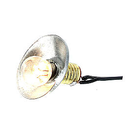 Lamp post with metal shade 3.5V, for 1 cm nativity low voltage s3
