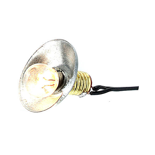 Lamp post with metal shade 3.5V, for 1 cm nativity low voltage 3