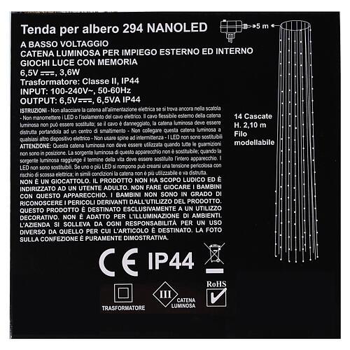 Tenda luce natalizia bianco freddo 294 nanoled 220V 4