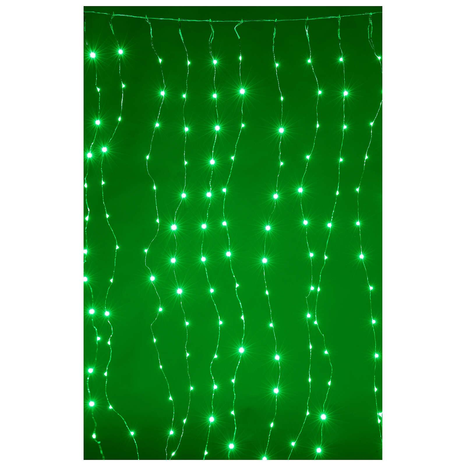 Cortina luz navideña 240 super nanoled multicolores con control remoto 3