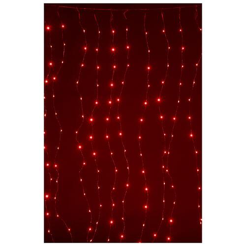 Cortina luz navideña 240 super nanoled multicolores con control remoto 4