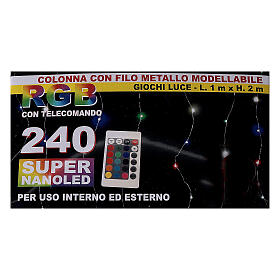 Curtain lights for Christmas 240 super Nano LED multi-color with remote control s5