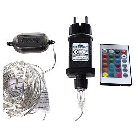 Curtain lights for Christmas 240 super Nano LED multi-color with remote control s7