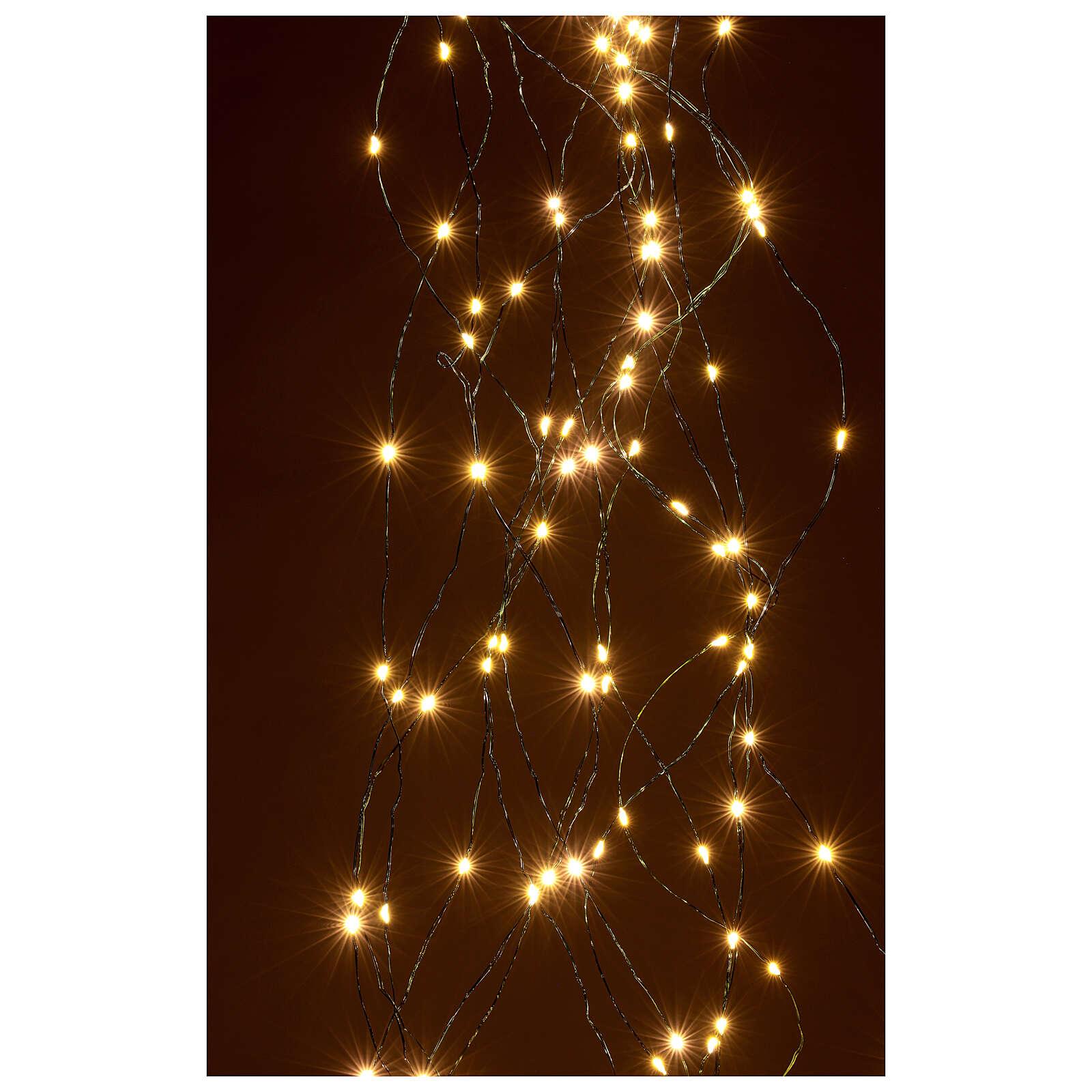 Lichterkette als Vorhang mit warmweißem Licht, 294 LEDs 3