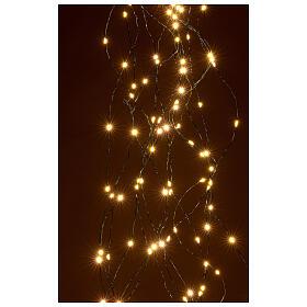Lichterkette als Vorhang mit warmweißem Licht, 294 LEDs s2