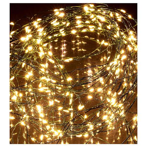 Lichterkette als Vorhang mit warmweißem Licht, 294 LEDs 4