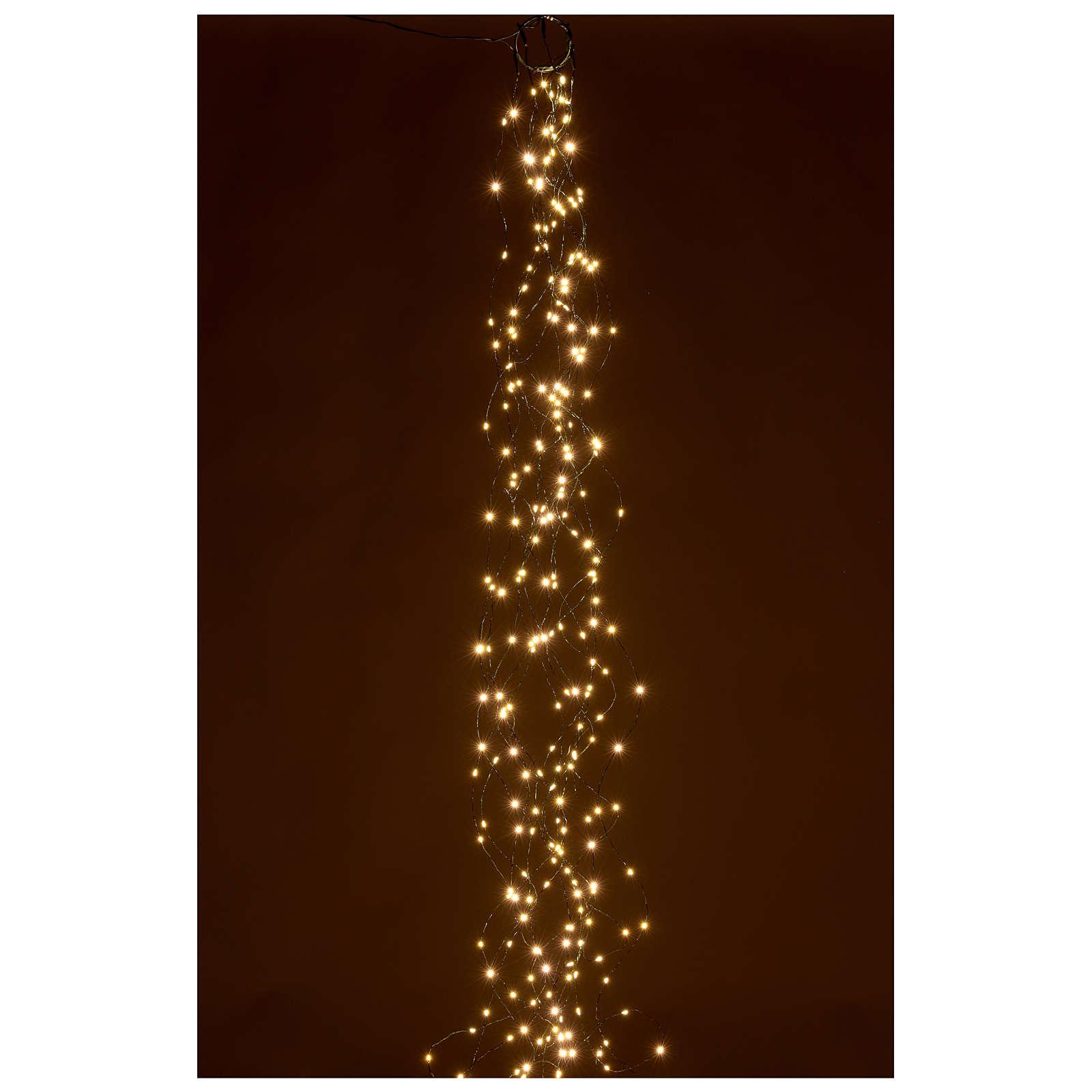 Luci natalizie tenda 294 nanoled luce bianco caldo 220V 3